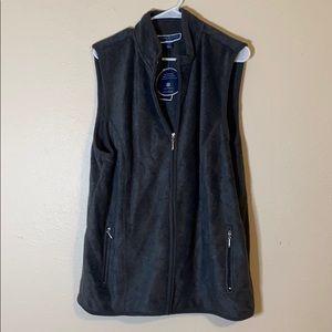 Karen Scott zeroproof fleece vest. Gray.